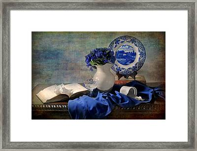 Lady's Got The Blues Framed Print by Diana Angstadt