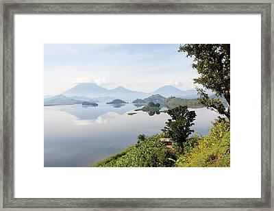 Lake Mutanda Near Kisoro Framed Print by Martin Zwick