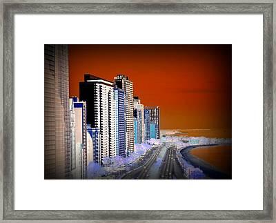 Lake Shore Drive Framed Print by Toni Abdnour