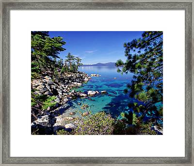 Lake Tahoe Swimming Hole Framed Print by Scott McGuire