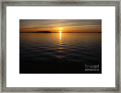 Lake Waconia Regional Park Sunset  Framed Print by Jacqueline Athmann