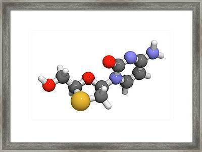 Lamivudine Antiviral Drug Molecule Framed Print by Molekuul