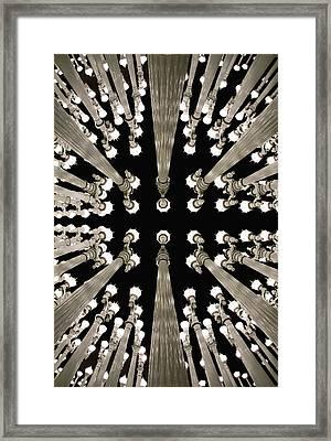 Lampposts Framed Print by Robert Jensen