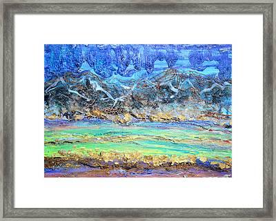 Landscape Layers Framed Print by Regina Valluzzi