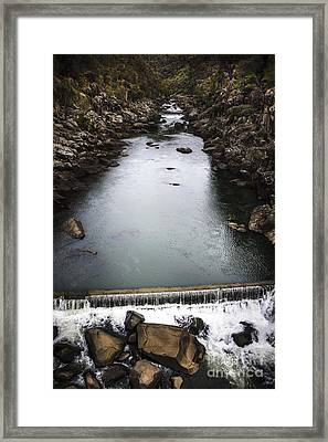 Landscape Of A Water Canyon With Rock Waterfall Framed Print by Jorgo Photography - Wall Art Gallery