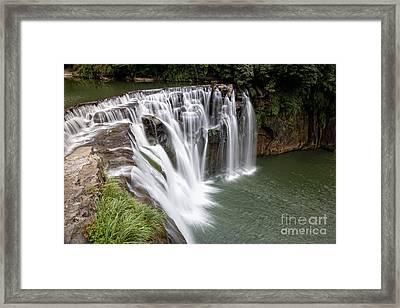 Landscape Shifen Waterfall In Taiwan Framed Print by Fototrav Print