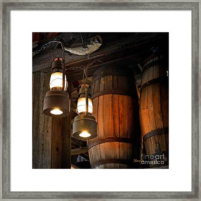 Lantern Glow Framed Print by Nava Thompson