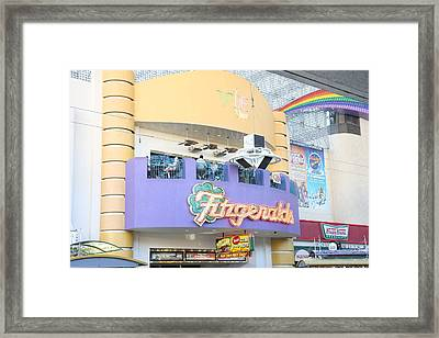 Las Vegas - Fremont Street Experience - 12122 Framed Print by DC Photographer