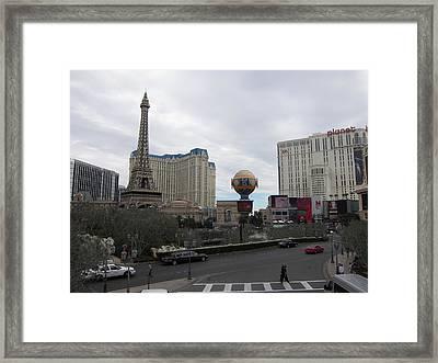 Las Vegas - Paris Casino - 12124 Framed Print by DC Photographer