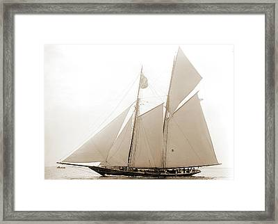 Lasca, Lasca Schooner, Goelet Cup Race Framed Print by Litz Collection