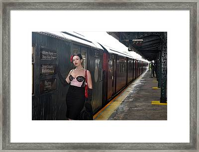 Last Train To Shea Framed Print by Jim Poulos