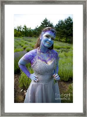 Lavander Fairy Framed Print by Graham Foulkes