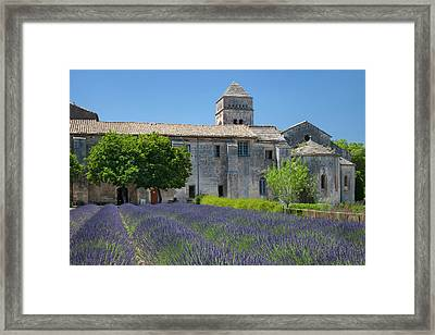 Lavender Below Saint Paul De-mausole Framed Print by Brian Jannsen