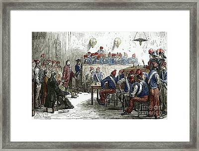 Lavoisiers Trial, 1794 Framed Print by Sheila Terry