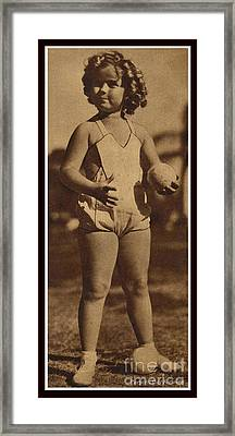Lawn Bowling With Shirley Temple Framed Print by Pierponit Bay Archives