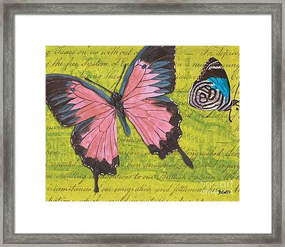 Le Papillon 2 Framed Print by Debbie DeWitt