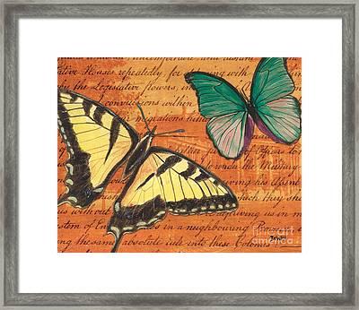 Le Papillon 3 Framed Print by Debbie DeWitt