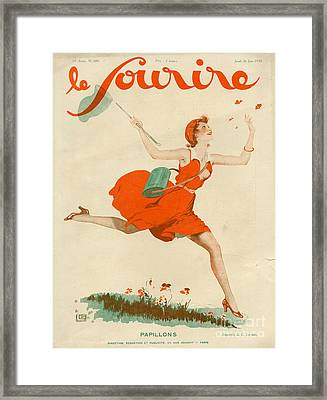 Le Sourire 1930 1930s France Magazines Framed Print by The Advertising Archives