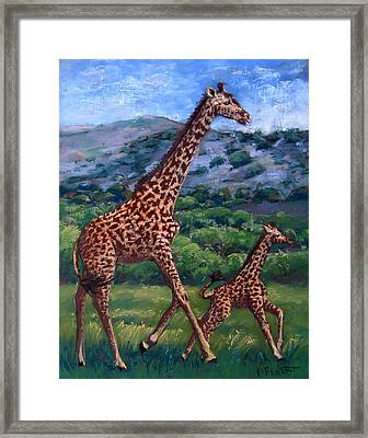 Learning To High Step Framed Print by Barbara Richert