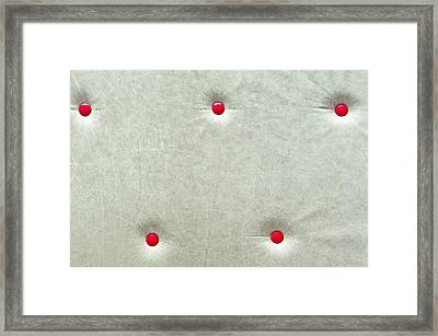 Leather Background Framed Print by Tom Gowanlock