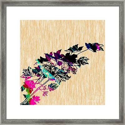 Leaves Framed Print by Marvin Blaine