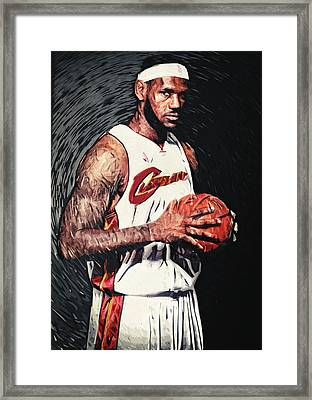 Lebron James Framed Print by Taylan Soyturk