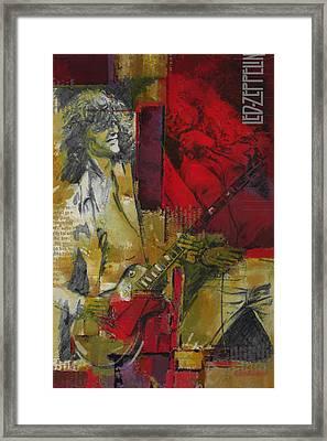 Led Zeppelin  Framed Print by Corporate Art Task Force