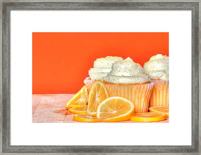 Lemon Cupcakes Framed Print by Sophie Vigneault