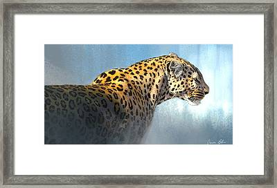 Leopard Framed Print by Aaron Blaise