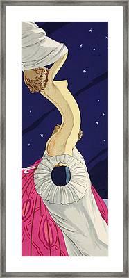 Les Cinq Sens Framed Print by Ettore Tito