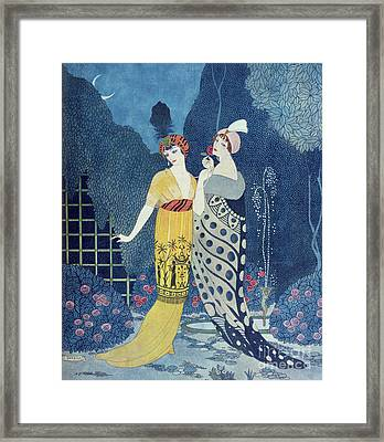 Les Modes Framed Print by Georges Barbier