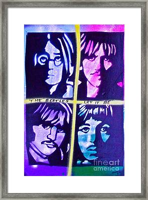 Let It Be Framed Print by Tony B Conscious