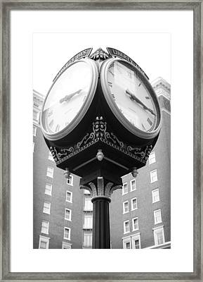 Liberty Mutual Clock Framed Print by Kelly Hazel