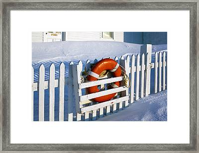 Lifesaver Framed Print by Eric Gendron