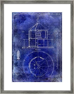 Lighthouse Lantern Lense Order Blueprint  Framed Print by Jon Neidert