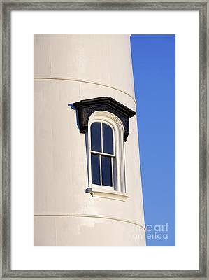 Lighthouse Window Framed Print by John Greim