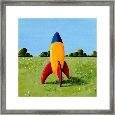 Lil Rocket Framed Print by Cindy Thornton
