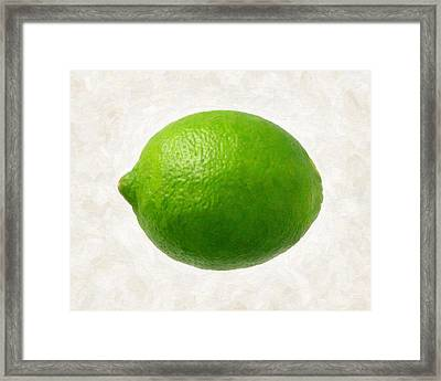 Lime Framed Print by Danny Smythe