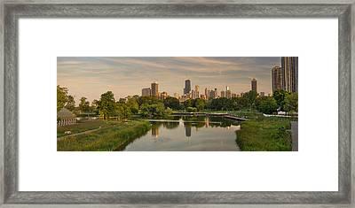 Lincoln Park Lagoon Chicago Framed Print by Steve Gadomski