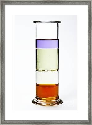 Liquid Layers Column Framed Print by Martyn F. Chillmaid