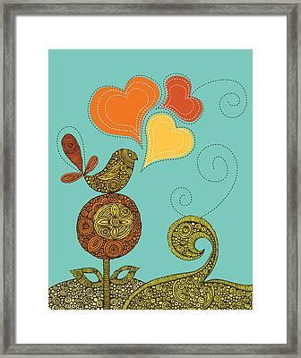 Little Bird In The Flower Framed Print by Valentina Ramos