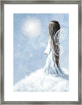 Little Fairy By Shawna Erback Framed Print by Shawna Erback