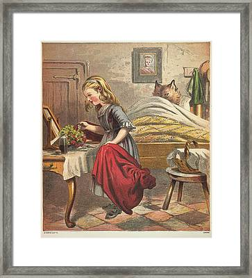 Little Red Riding Hood Framed Print by British Library