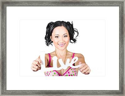Live Life To The Fullest Framed Print by Jorgo Photography - Wall Art Gallery