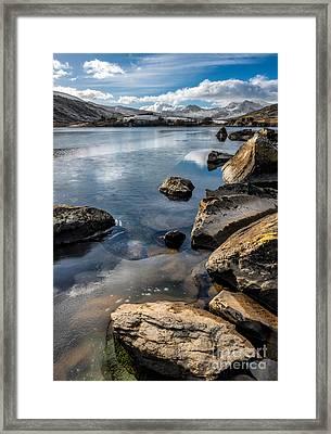Llynnau Mymbyr Framed Print by Adrian Evans