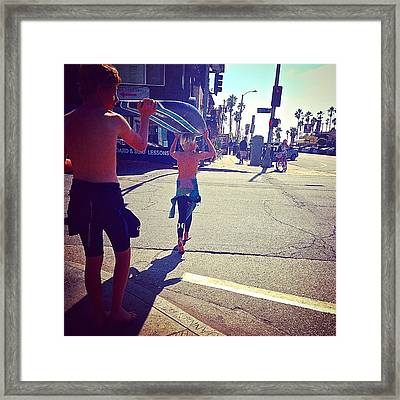 Locals Only Framed Print by Patricia Berger