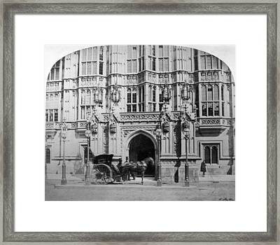 London House Of Lords Framed Print by Granger