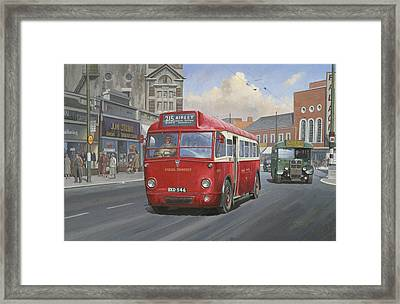 London Transport Q Type. Framed Print by Mike  Jeffries