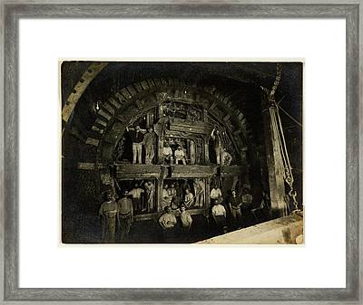London Underground Construction Framed Print by British Library