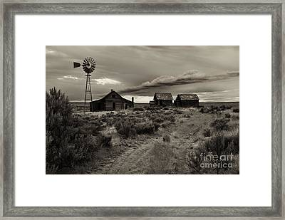 Lonely House On The Prairie Framed Print by Mike  Dawson